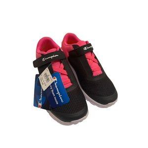Champion black pink memory foam girl's shoes 1.5